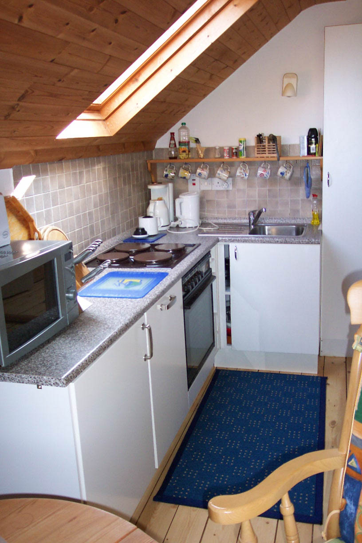Die Küche der Schmiede: Klein aber dennoch vollständig ausgest