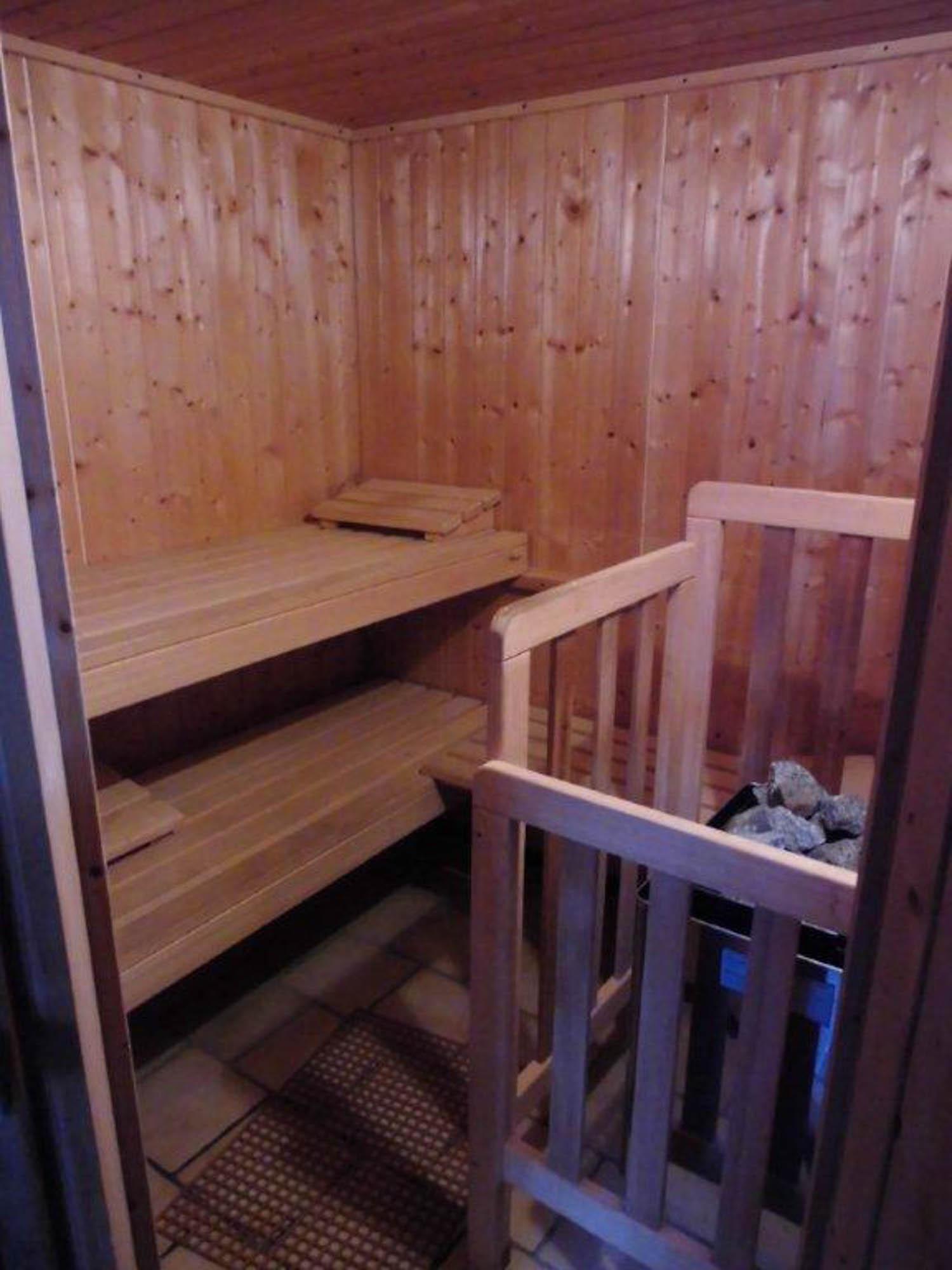 Blick in die Sauna: Klein aber fein.